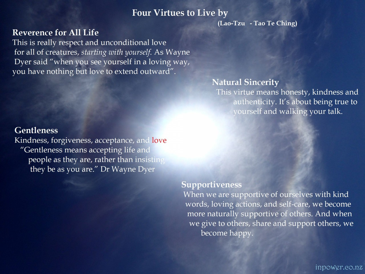 4 Virtues to Live by